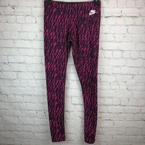 NIKE Pink Full Length Workout Leggings Size Small